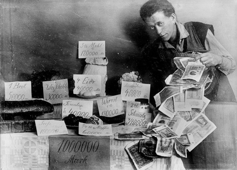 威瑪共和國,威瑪共和國通漲,量化寬鬆後果,無限QE影響, 德國1923年通漲,歷史上印銀紙的教訓 | 威瑪共和國惡性通貨膨脹 | 量化寬鬆後果 | 無限QE影響, 小龍江恩研究社